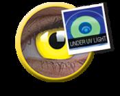 ColourVue Crazy čočky UV svítící - Glow Yellow (2 ks roční) - nedioptrické
