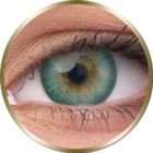 Phantasee Natural - Turquoise (2 čočky tříměsíční) - nedioptrické